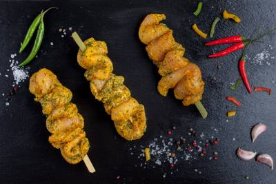 3 X Garlic Chicken Kebabs