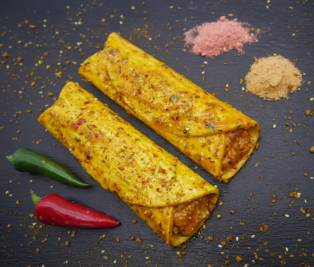Indian Roll - pastry roll with pork curry filling
