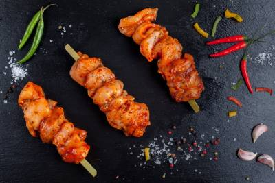 3 x Sweet Chilli Chicken Kebabs