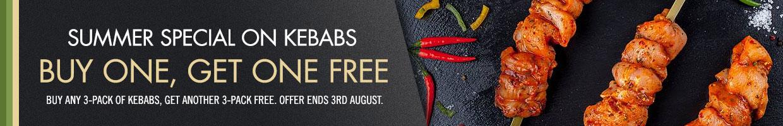 Buy 1 get 1 free on all Kebabs